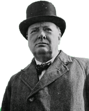 Winston png. Churchil load stare stickpng