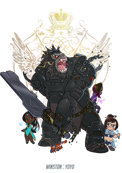 Winston png overwatch. Characters as fantasy heroes