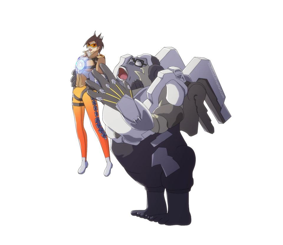 Winston transparent drawing. Overwatch tracer fan art