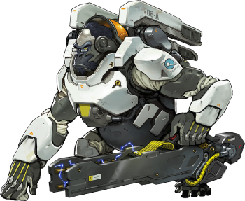 Overwatch wiki. Winston png graphic library stock