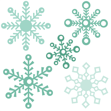 Winter border png. Assorted snowflake set assortedsnowflake
