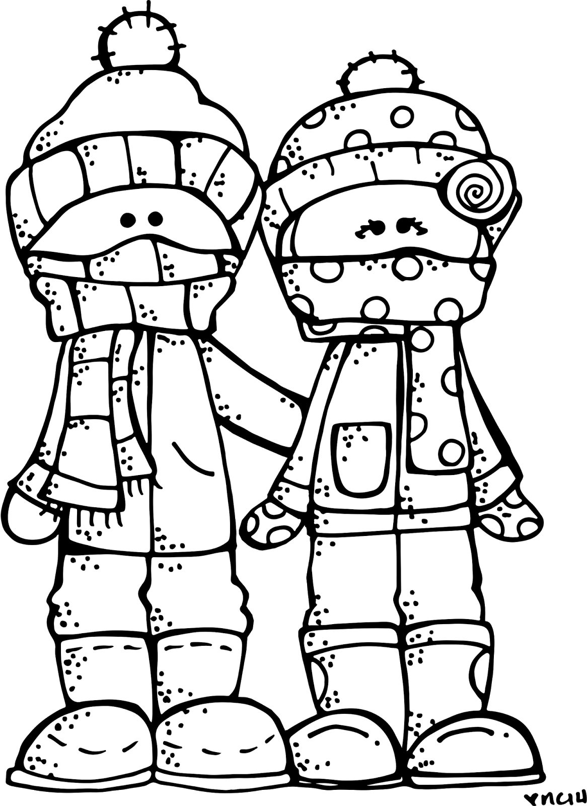 Winter clipart black and white. Melonheadz lds illustrating freebie
