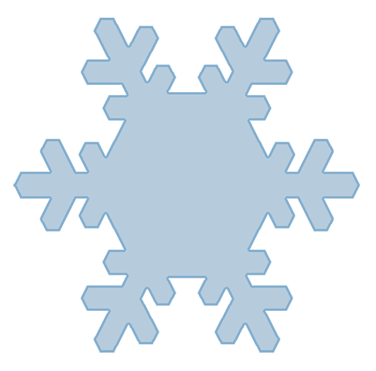 Winter clipart png. Blue snow triple snowflake