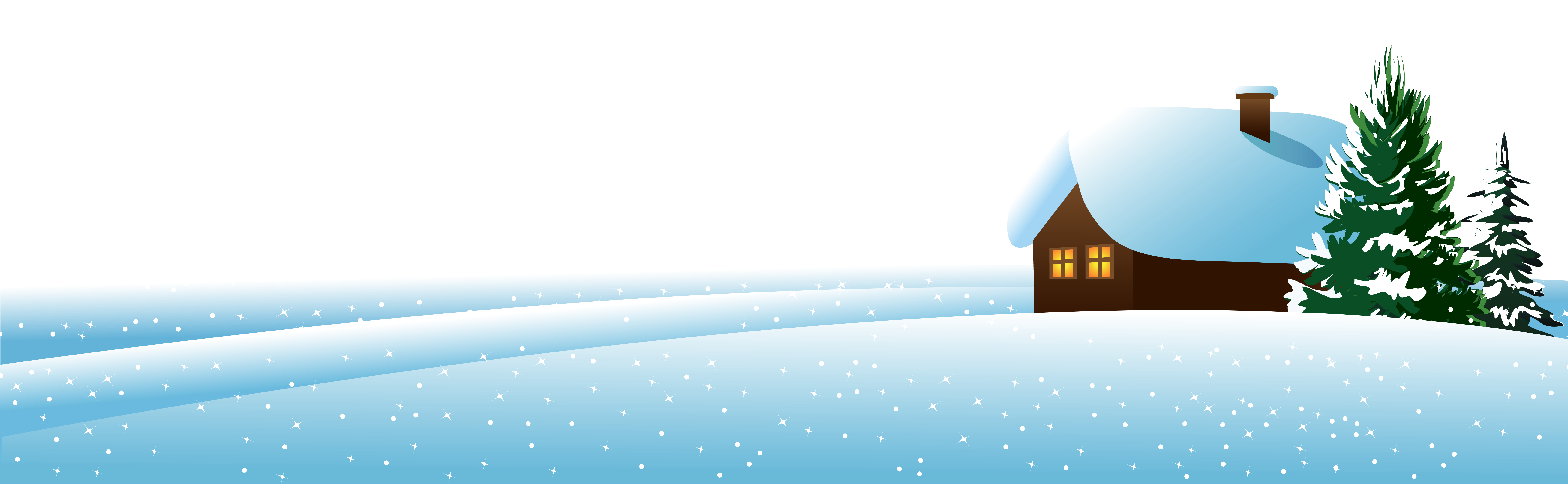 Winter clipart png. House and rees ground