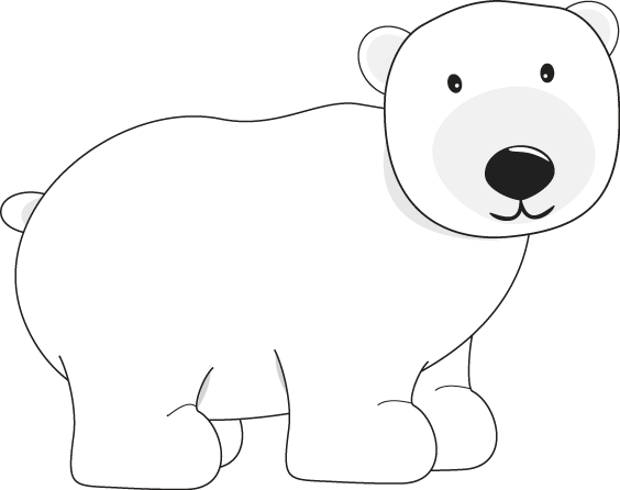 Winter clipart polar bear. Clip art pinterest bears