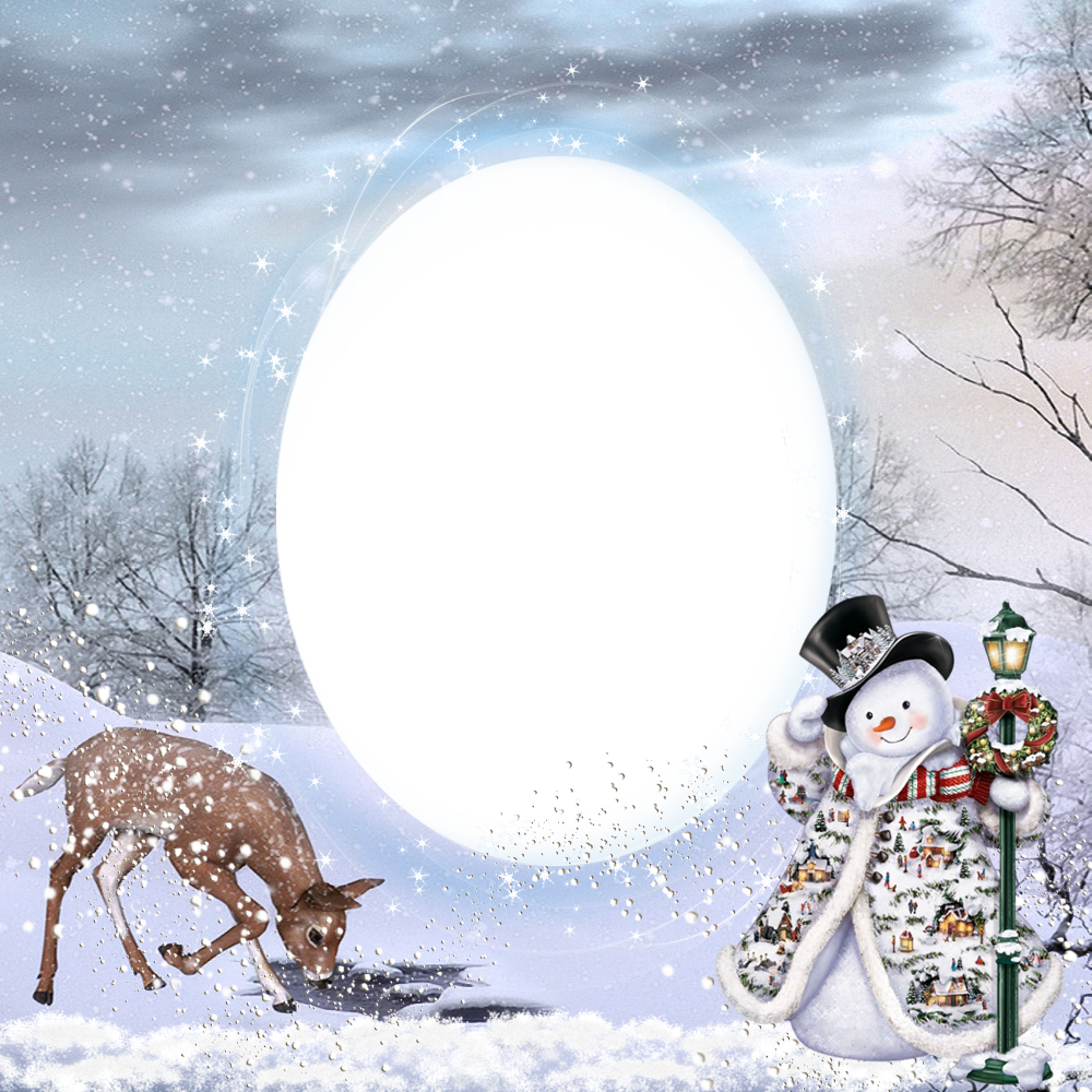 Winter frame png. Transparent christmas photo gallery