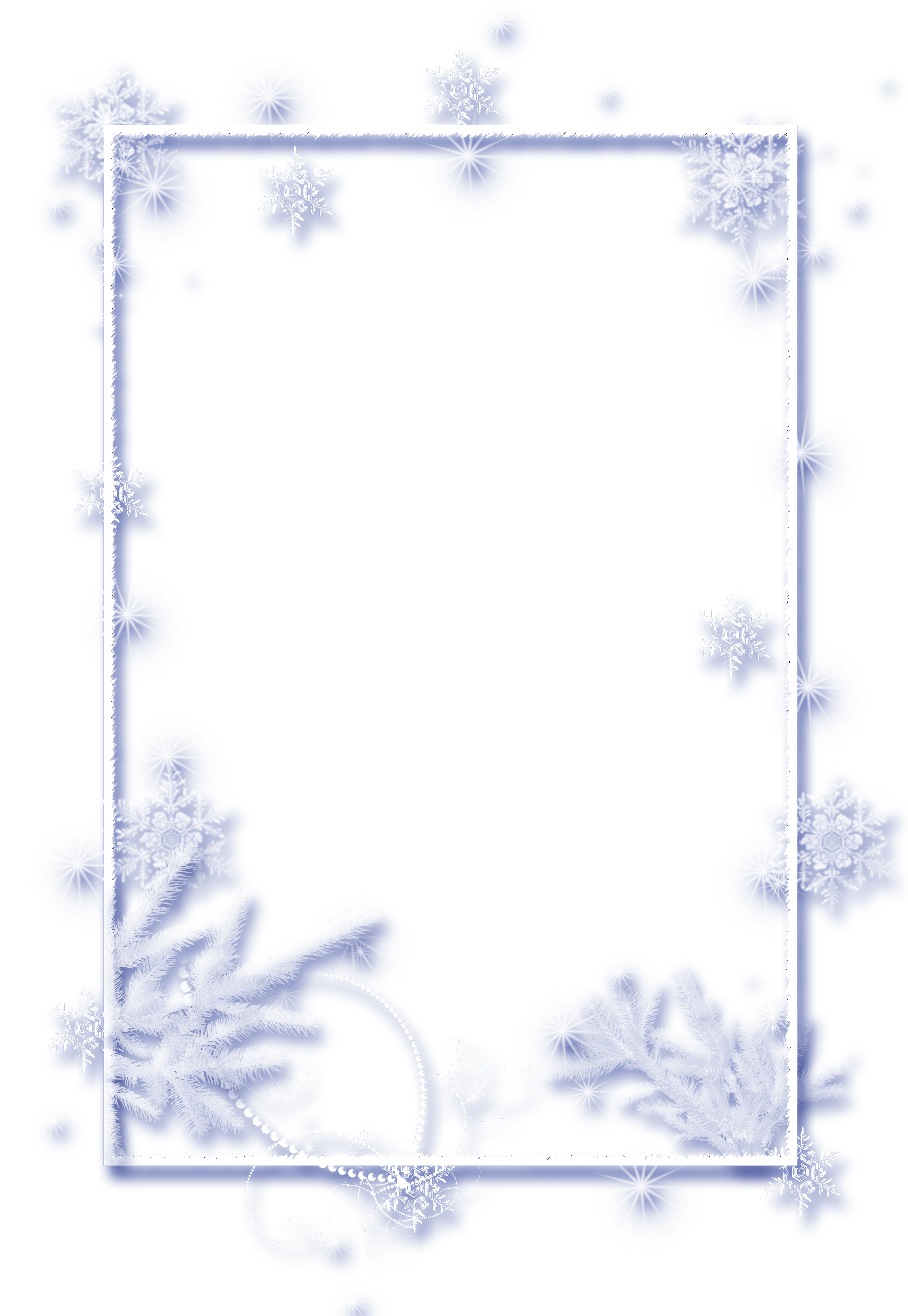 Winter frame png. Large transparent christmas ice