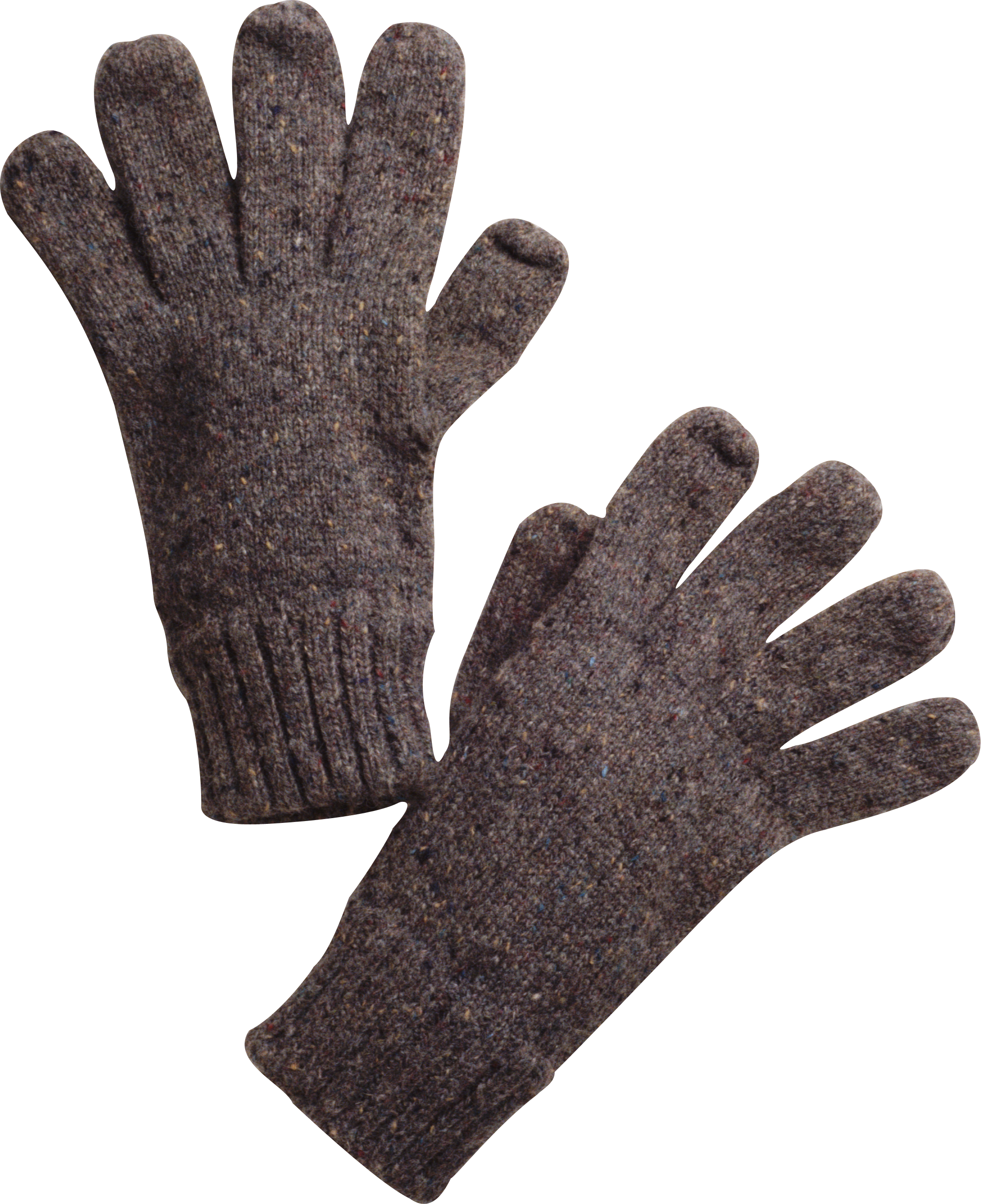 Transparent gloves background. Winter png image purepng