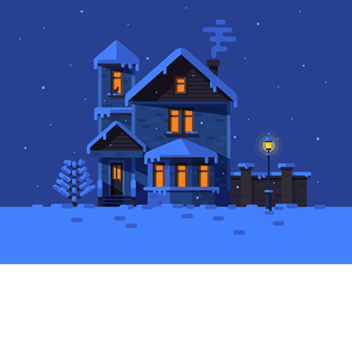 Winter night png. Profile roblox house