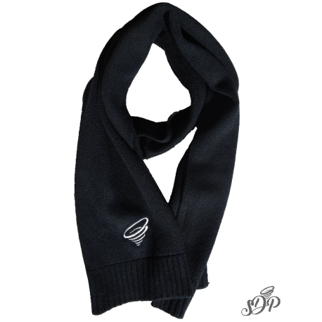 Winter scarf png. Elegant knitted black