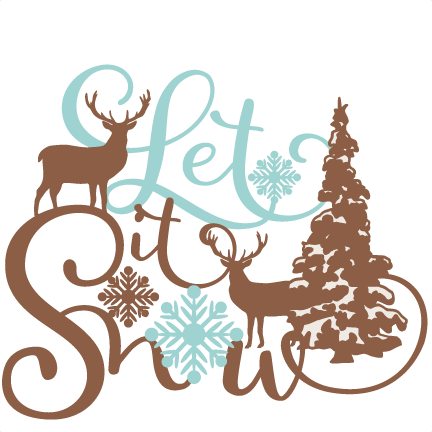 Snow svg clip art. Let it phrase winter