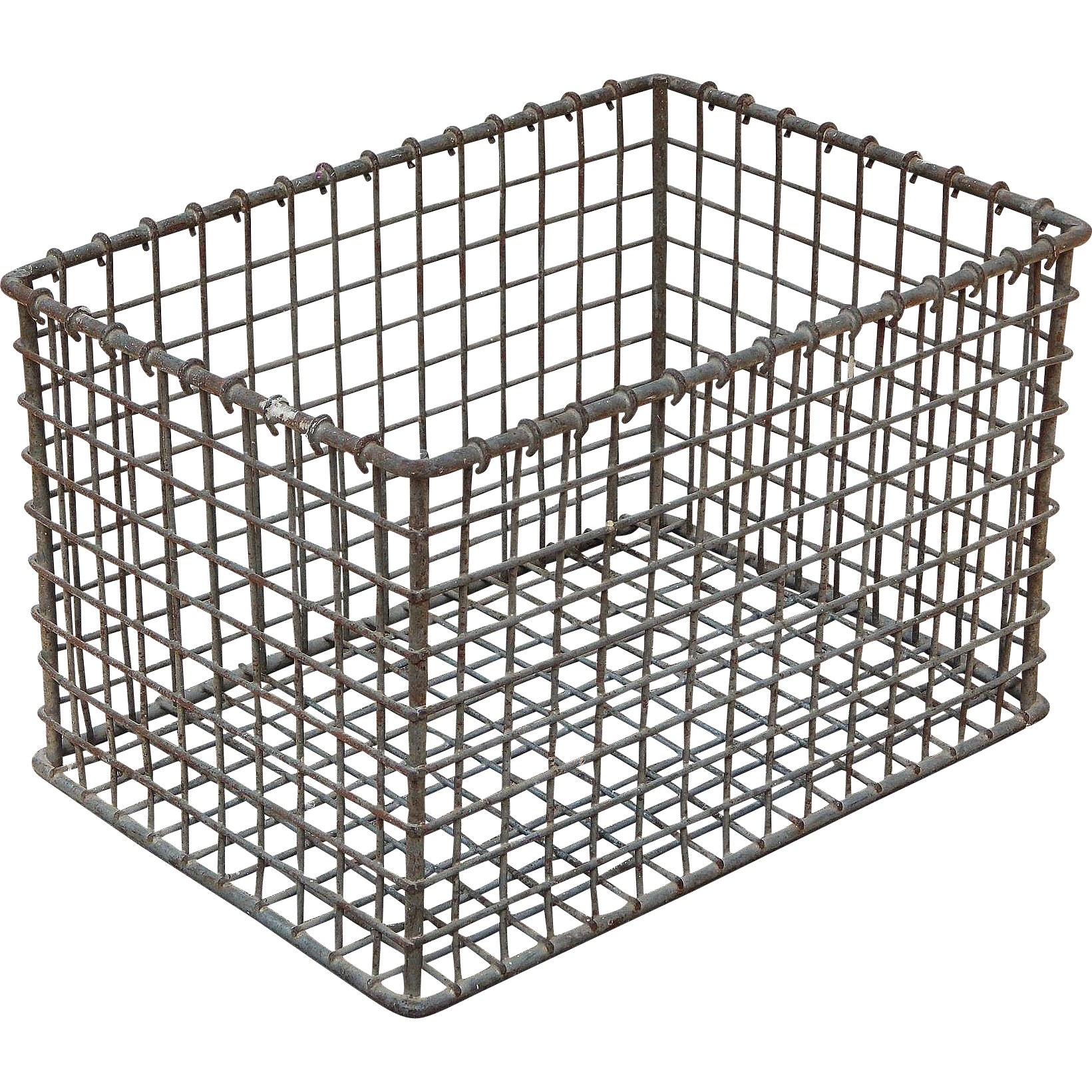 Wire crate png. Small vintage heavy gauge