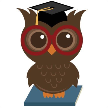 Wise owl png. Svg file for cutting