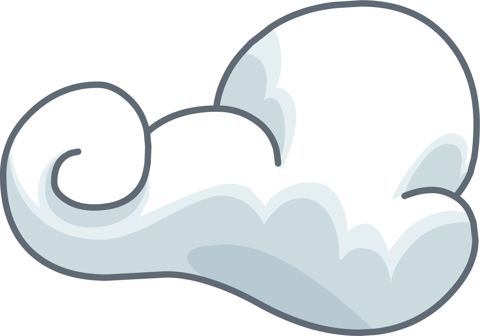 Wispy clouds png. Image icon club penguin