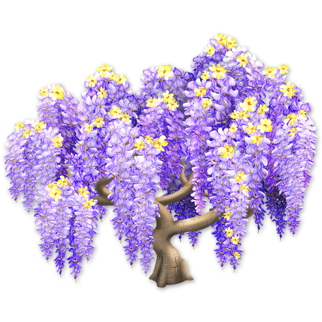 Wisteria flower png. Image tree hay day