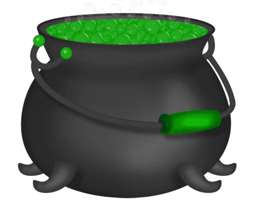 Cauldron vector green. Halloween witch png free