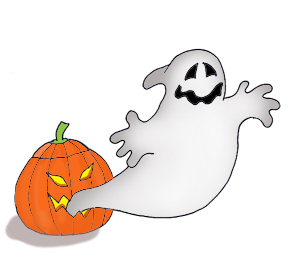 Witch clipart ghost. Happy halloween clip art