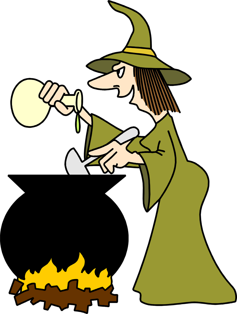 Cauldron vector halloween. Witch clipart witchcraft free