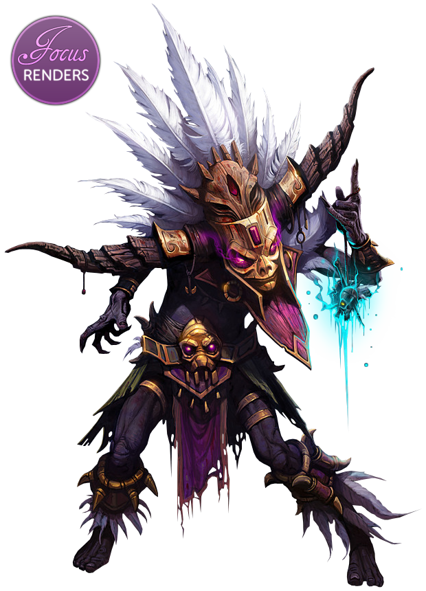 Witch doctor png. Diablo character design pinterest