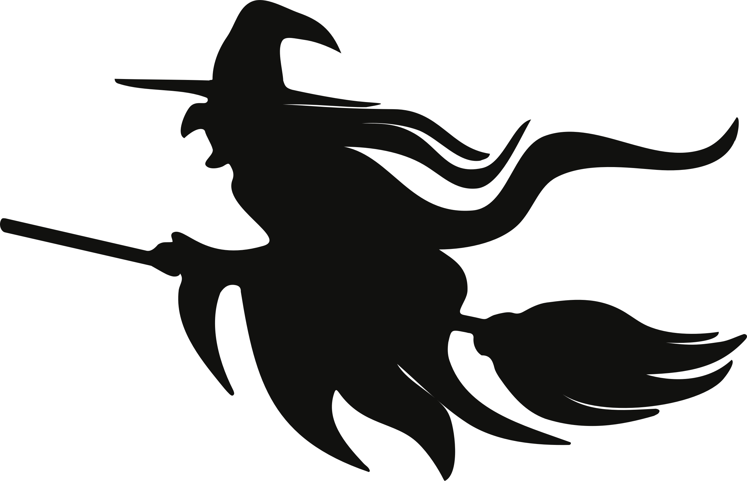 Witch on broom png. Clipart broomstick silhouette big