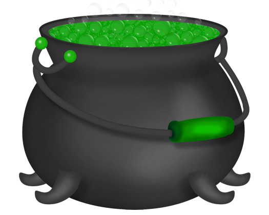 Witch pot png. Clipart