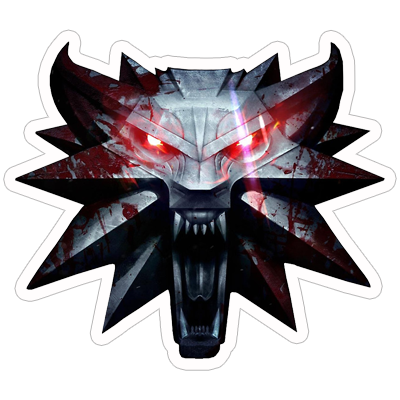 Witcher 3 wolf png. The stickerzone
