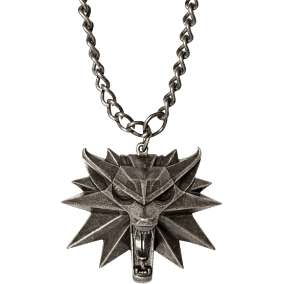 Witcher 3 wolf png. Head medallion and chain
