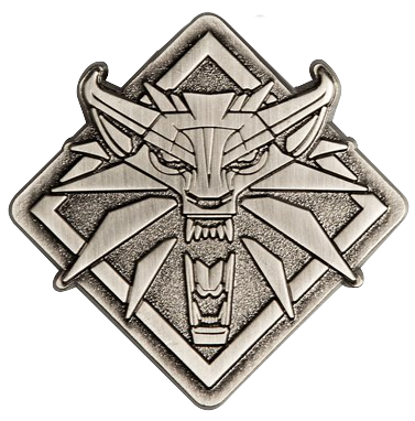 Medallion vector witcher 3 wolf. The wild hunt by
