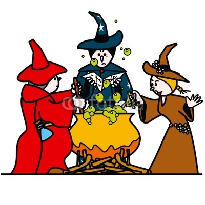 Witches clipart.  royalty free stock