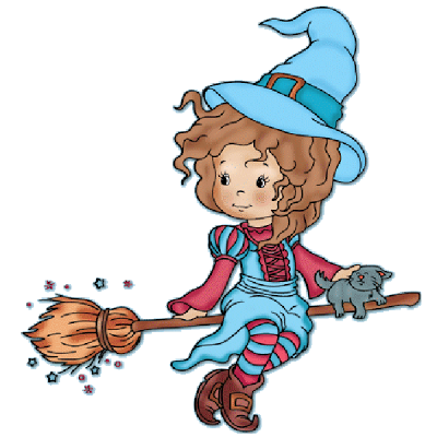Witches clipart. Cute baby halloween cartoon