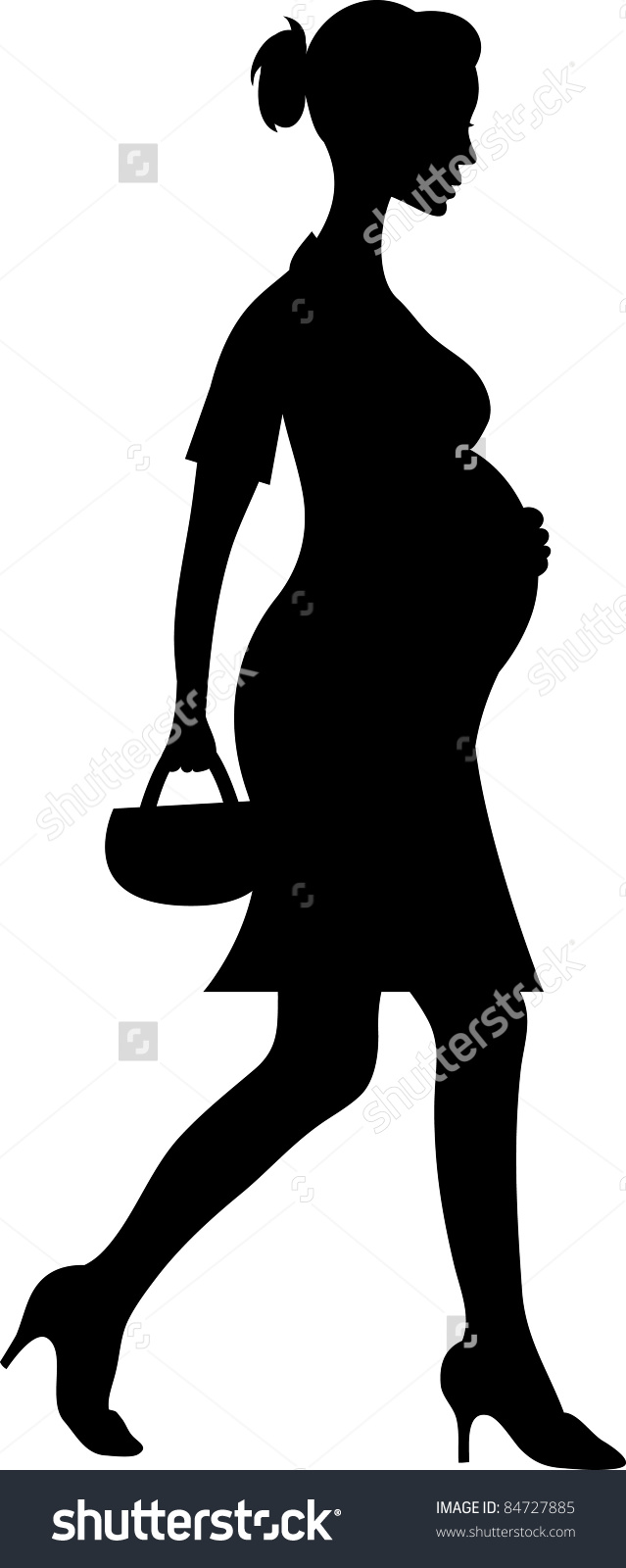 Witches clipart pregnant. Mom silhouette at getdrawings