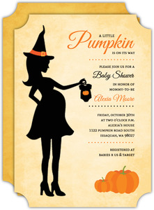 Witches clipart pregnant. Boy baby shower invitations