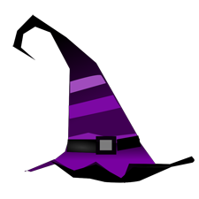 Witches clipart purple witch. Free of halloween a