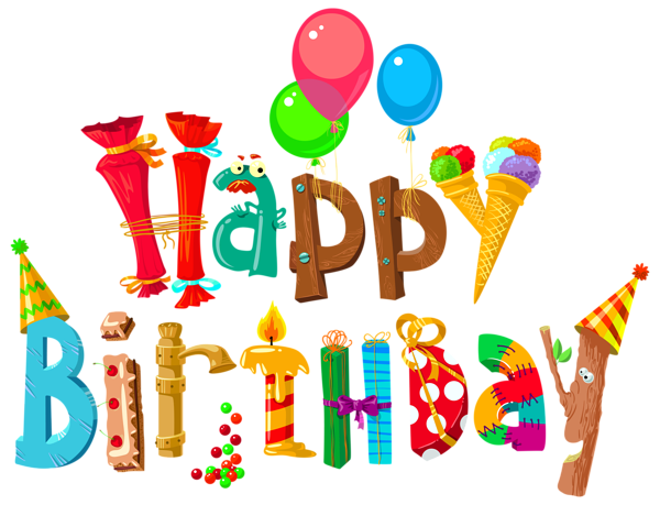 With clipart happy birthday. Funny image by