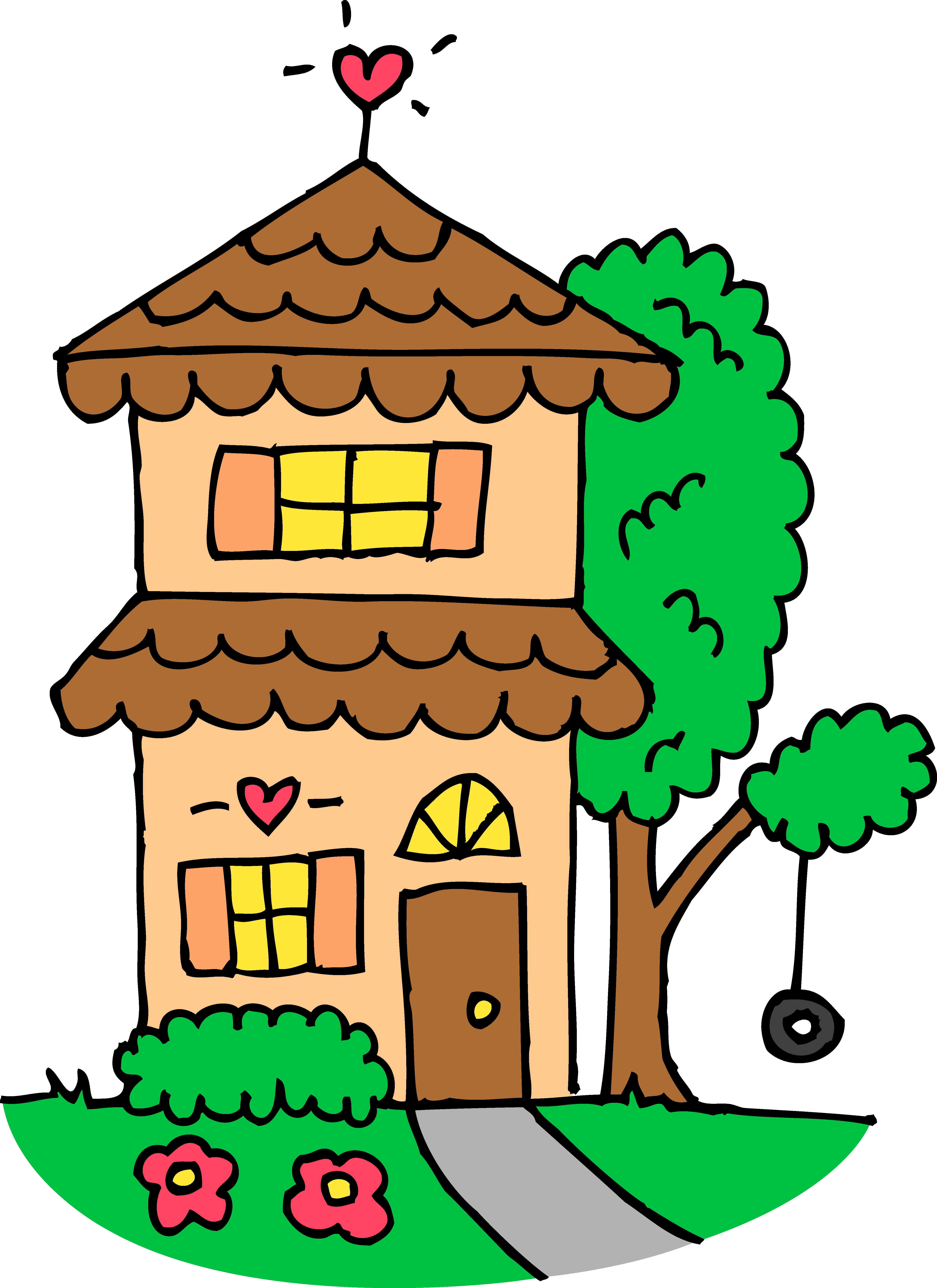 With clipart house. Clip art images of