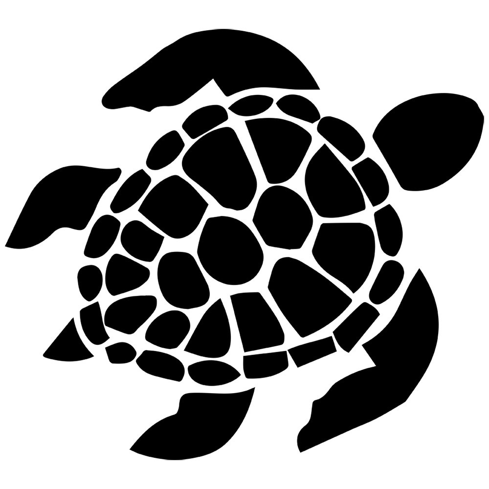 With clipart silhouette. Special sea turtle outline