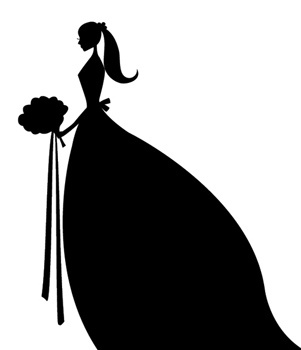 With clipart silhouette. Bridesmaid at getdrawings com