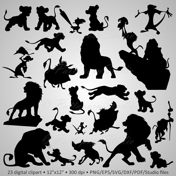 With clipart silhouette. Buy get free digital