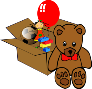 With clipart toy. Free