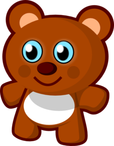 With clipart toy. Little bear clip art