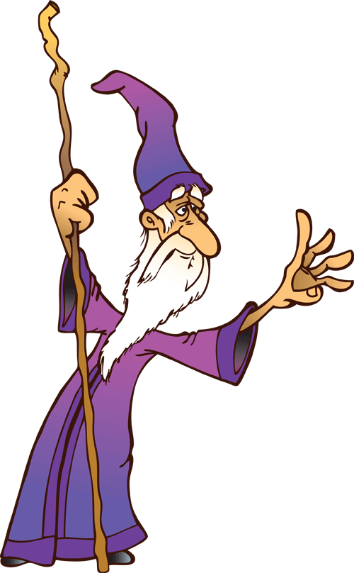 Wizard clip kid. Kids page looking forward
