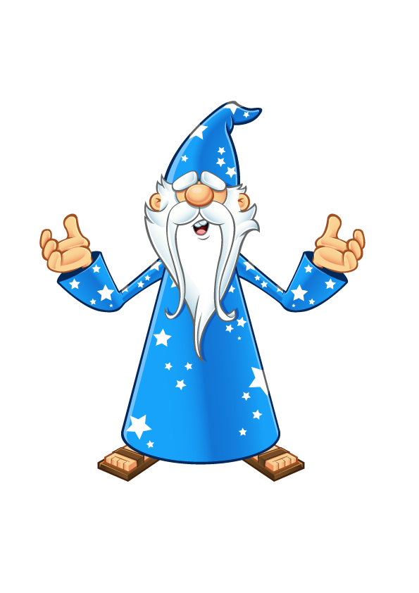 Wizard clip old. Blue confused hubaisms bloopers