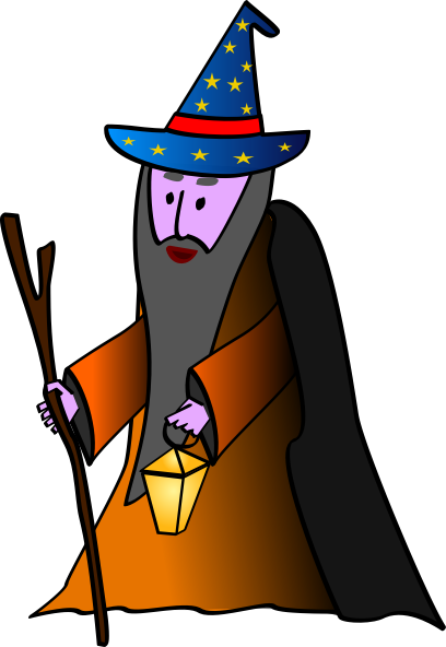 Wizard clip royalty free. Old art at clker