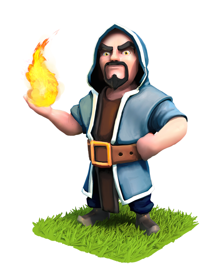 Clash of clans wizard png. Purim pinterest royale digimon