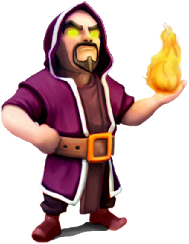 Wizard png. Image clash of clans