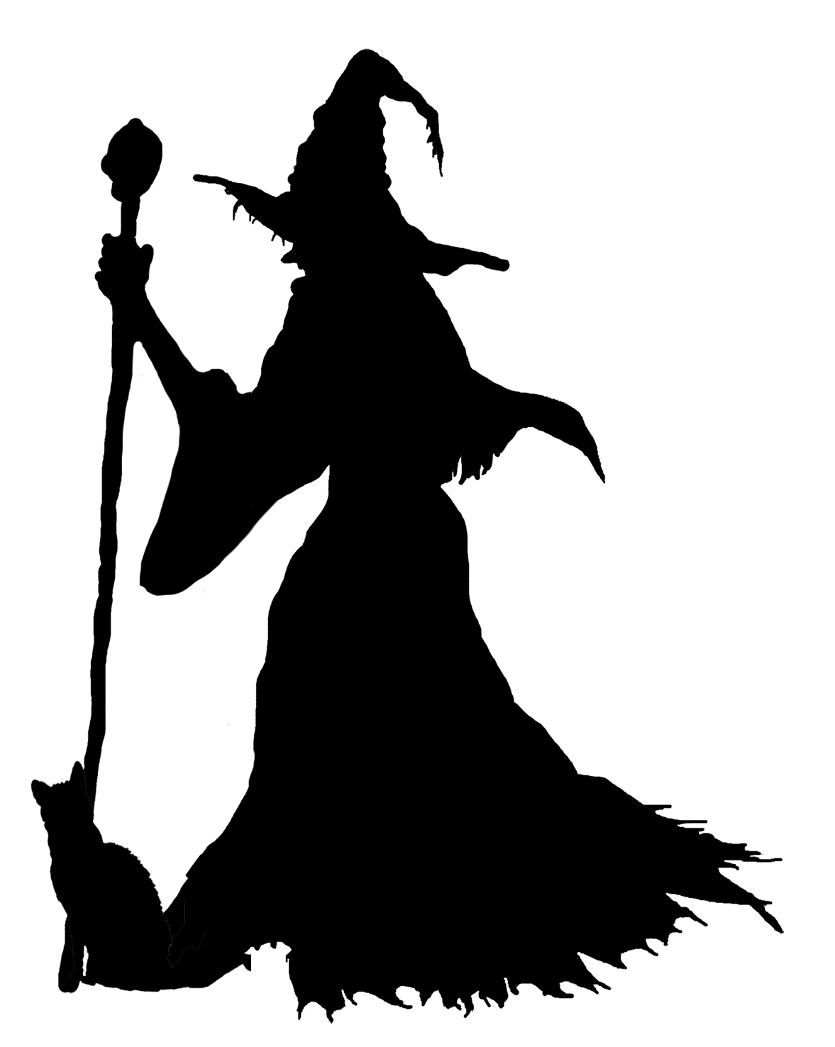 Wizard silhouette png. Witches at getdrawings com