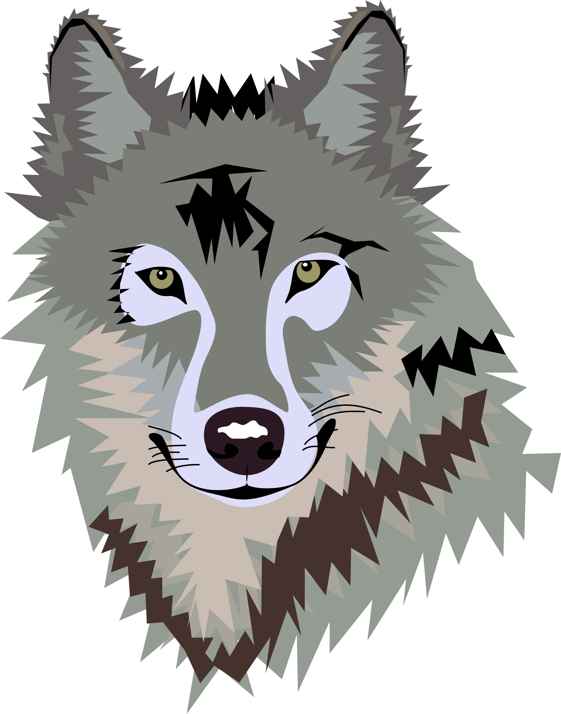 Wolf art png. Clipart big image