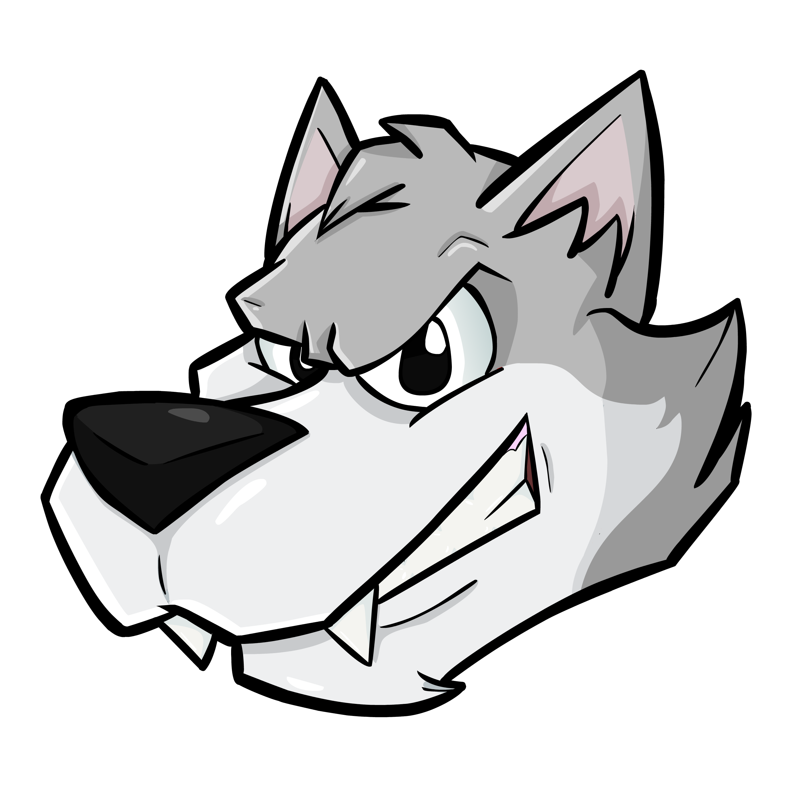 Wolf cartoon png. Head by theiyoume on
