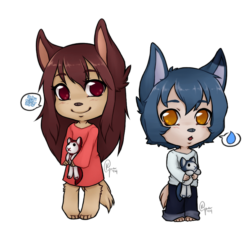 Wolf children png. Chibi by kyns fur