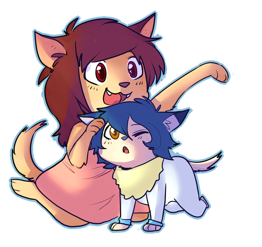 Wolf children png. By donitkitt on deviantart